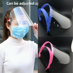 Safety shield mask - adjustable - transparent - visor