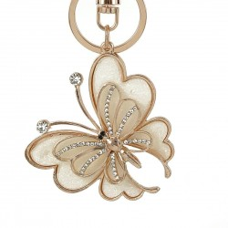 Fashion crystal butterfly - keychain