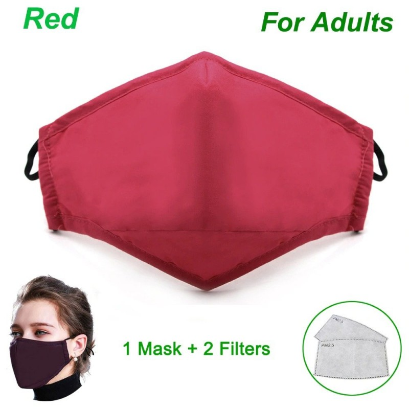 Cotton PM25 Black mouth Mask anti dust mask Activated carbon filter Windproof Mouth-muffle bacter