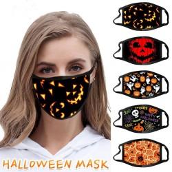 Beschermend gezicht / mondmasker - winddicht - stofdicht - Halloween print