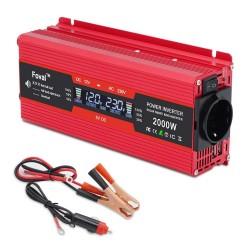 LCD display - solar adapter - dual USB - 1500W - 2000W