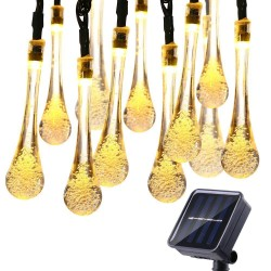 4m - 6m - LED string light - solar droplet bulbs - waterproof - Christmas / garden decoration