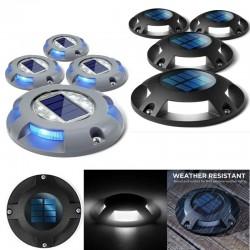 1 - 4 stuks - 4 LED - lamp op zonne-energie - opritverlichting - waterdicht