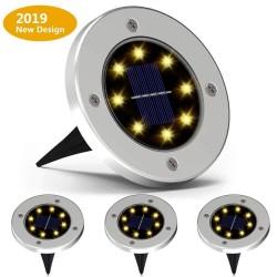 4 stuks - lampen op zonne-energie - 8 leds - waterdichte tuinlamp
