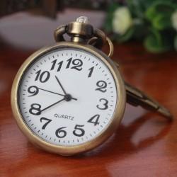 Vintage retro bronze watch - keychain