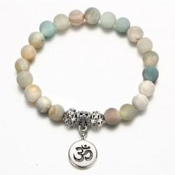 Bracelet with natural stones - handmade - unisex