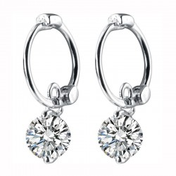 925 Sterling Silver - Bohemia Hoop Earrings - Jewelry