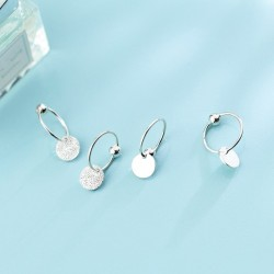 925 Sterling Silver - Minimalist Hoop Earrings - Jewelry