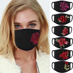 PM2.5 - anti-stof & vervuiling - gezicht / mond beschermend masker - wasbaar - rozen print