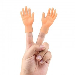 2 - 5 pieces - silicone mini fake hands - Halloween toy