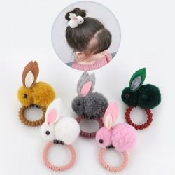 Elastische haarband met een konijn