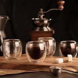 Heat-resistant - Double Wall Glass Cup - Beer - Espresso - Coffee