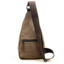 Men Canvas Backpack Shoulder Bag
