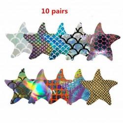 10 pairs - Nipple Covers - Starfish
