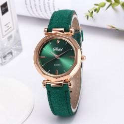 Women - Leather - Watch - Luxury - Quartz - Crystal - Wristwatch