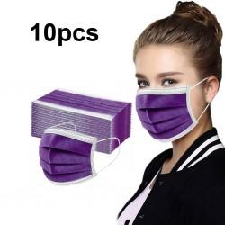 Wegwerp antibacterieel medisch gezichtsmasker - mondmasker - mondkapje - 3 laags - paars