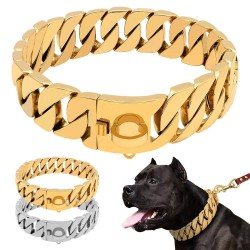 Strong Metal Dog Chain - Stainless Steel - Large Dogs