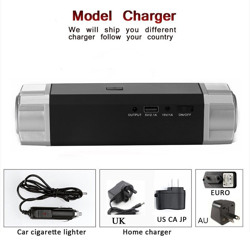 Portable jump starter - 500A power bank - car starter - 12V