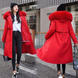 Winter coat with removable lining - hooded long jacket