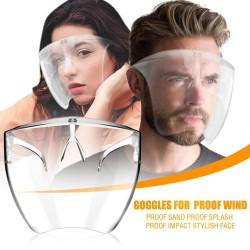 Beschermend transparant mond- / gezichtsmasker - plastic schild - bril - herbruikbaar