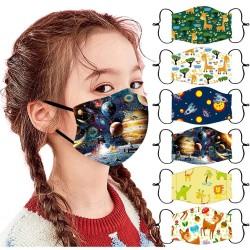 Kindergelaats- / mondbeschermingsmasker - ademend - cartoon print