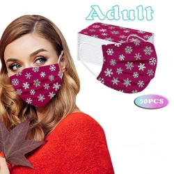 50 pieces - disposable antibacterial face / mouth mask - 3-layer - unisex - Christmas motifs