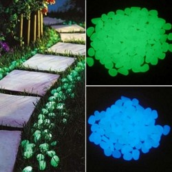 25 pieces / 50 pieces - glow in the dark garden pebbles