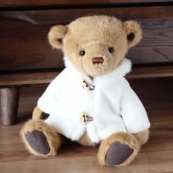 Pluche teddybeer met witte jas - speelgoed