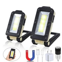 Multifunctionele COB-werklamp - USB - oplaadbaar - 180 graden verstelbaar - campinglamp met magneetontwerp