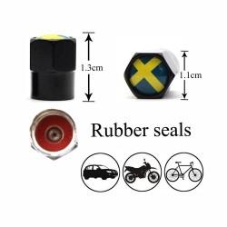 4Pcs/set - sweden flag - valve caps