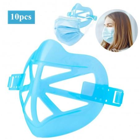 10 stuks - 3D gezicht onder maskerhouder - beugel