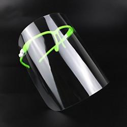 Transparent mouth / face mask - plastic full face shield - visor - lip reading