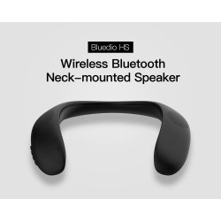 Bluedio HS - neck-mounted speaker - Bluetooth 5.0 - bass - FM - SD card slot - microphone