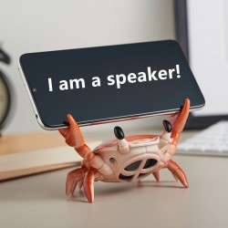 Bluetooth 5.0 - Speakers - Crab Phone Holder - Wireless