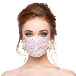 10 - 100 stuks - wegwerp antibacteriële gezichts- / mondmaskers - 3-laags - bloemenprint