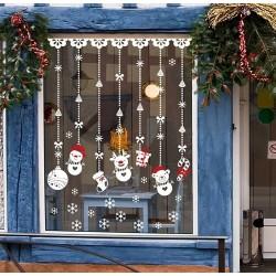 Kerstdecoratie - raamstickers