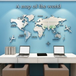 European Version - World Map - 3D Wall Sticker