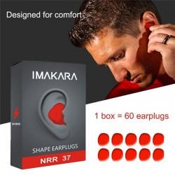 Moldable Shaped - Noise Reduction - Earplugs - 60Pcs