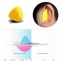 Moldable Shaped - Noise Reduction - Earplugs - 60Pcs