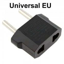 US flat plug to EU round plug - adapter - travel plug