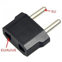 US flat plug to EU round plug - adapter - travel plug