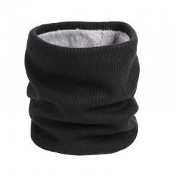 Gebreide warme ronde sjaal met pluche - unisex