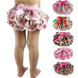 Baby ruffle - diaper cover - flower shorts
