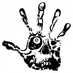 Skull eye fingers - car stickers