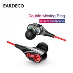 Bedrade oortelefoon met microfoon - dual drive bas - headset