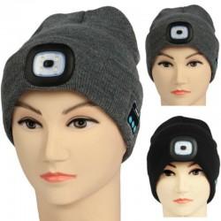 Bluetooth 5.0 - draadloze smart hat - koptelefoon - headset met 4 Leds
