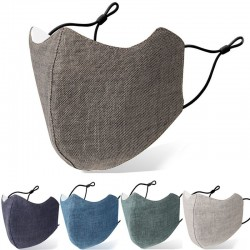 Anti-bacterial face / mouth protective mask - reusable - washable - cotton