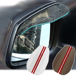 Car rear view mirror - side mirror - rain visor - sticker - 2 pieces