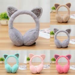 Warm earmuffs with glitter cat's ears