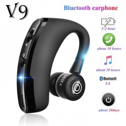 V9 Bluetooth earphone- hands free headset - earbud